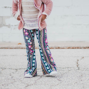Boho Stripes Bell Bottoms