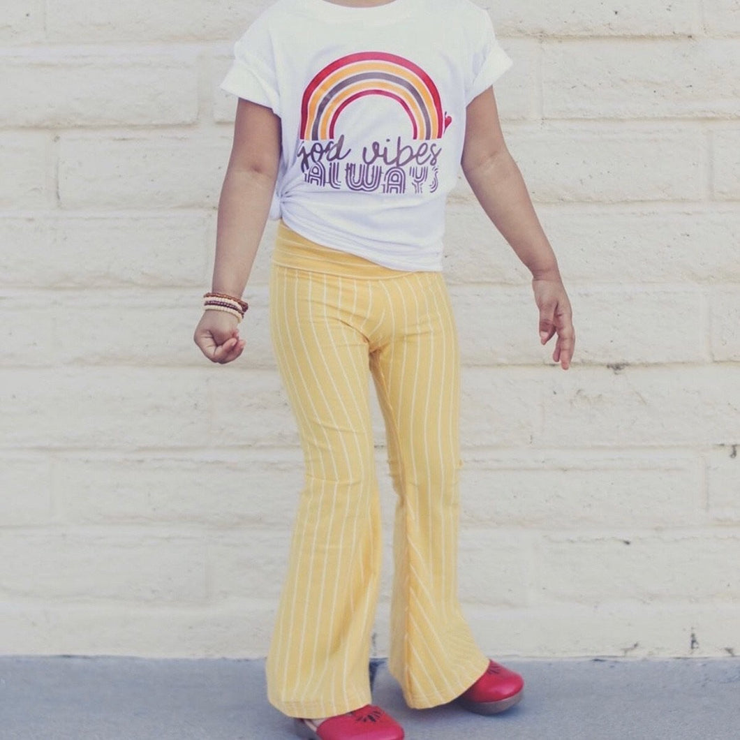 Sunshine Stripe Bell Bottoms