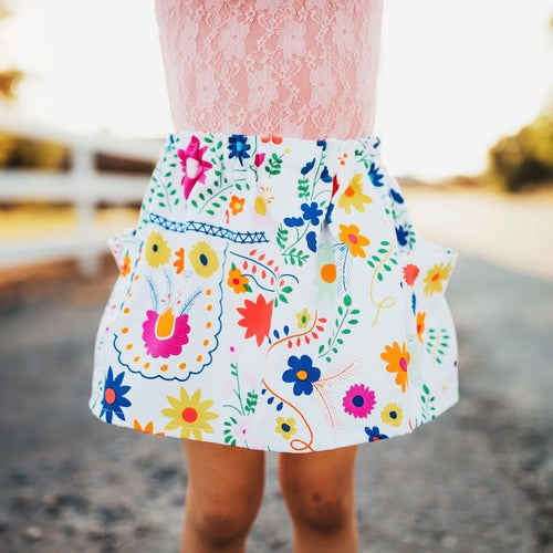 Glory Floral Pocket Skirt