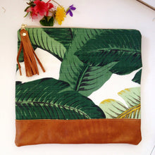 Load image into Gallery viewer, Palm leaf Clutch, palm leaves, best selling clutch - Melmaxdesign Clutch - gypsy, boho, surfshop , Melmaxdesign, Melmaxdesign