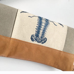 Lobster foldover clutch bag