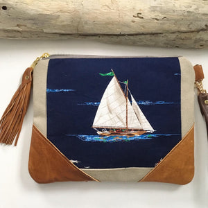 Sailboat clutch bag