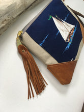 Load image into Gallery viewer, Sailboat clutch bag