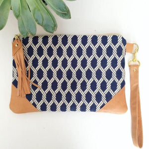 Nautical ropes clutch bag