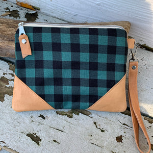 Maine made Bull Plaid wallet