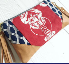 Load image into Gallery viewer, Red nautical  Lobster Crossbody bag