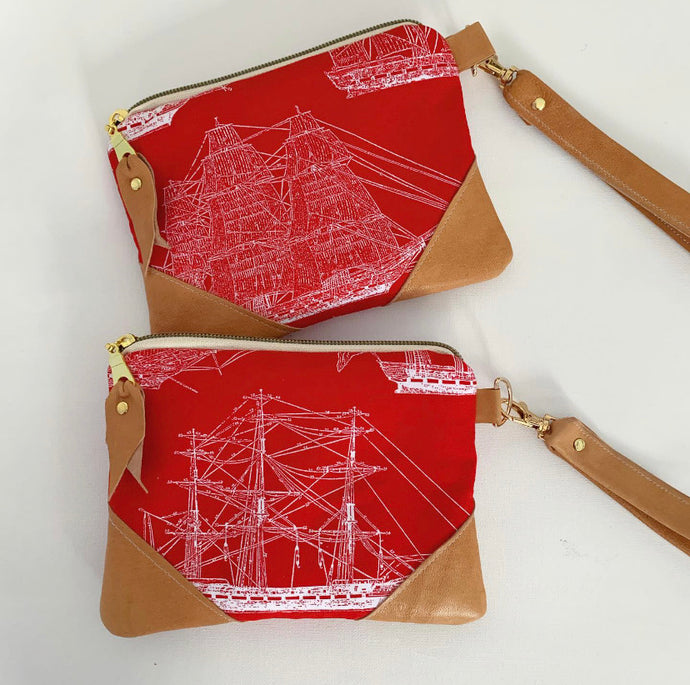 Red sailboat wallet