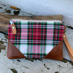Maine made Plaid wallet