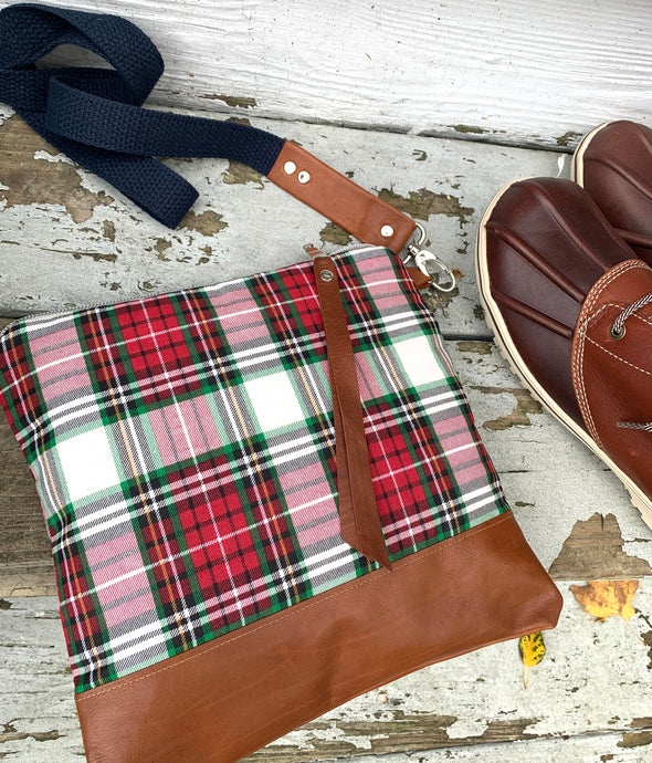 Plaid crossbody