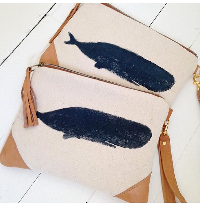 The whale clutch bag