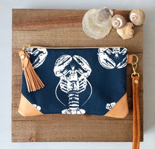 Load image into Gallery viewer, Navy lobster crossbody bags