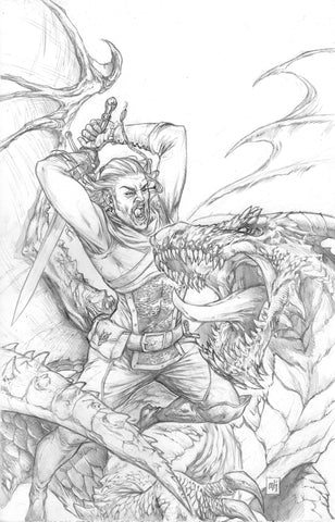 """Dragons Blood #1"" Cover Pencils"