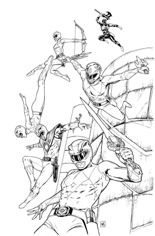 """Power Rangers #17"" Cover"