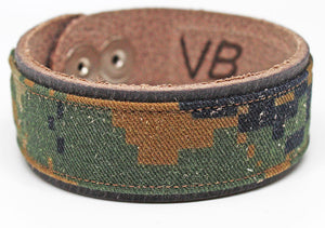 ValorBANDS™ - Black Leather - Marine Corps