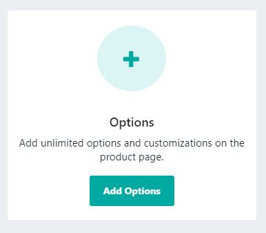 Add options to Infinite Product Options app
