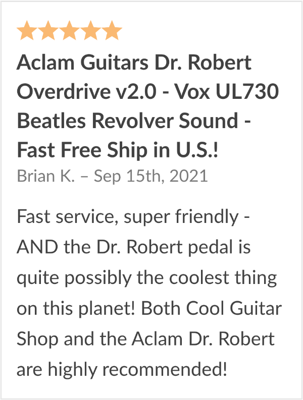 Aclam Doctor Robert Pedal Review