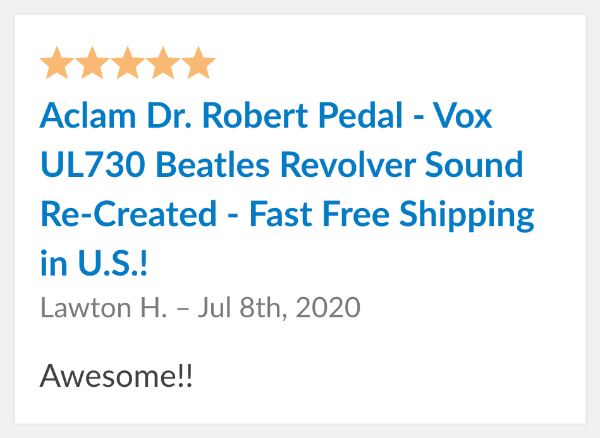 Aclam Dr Robert Review