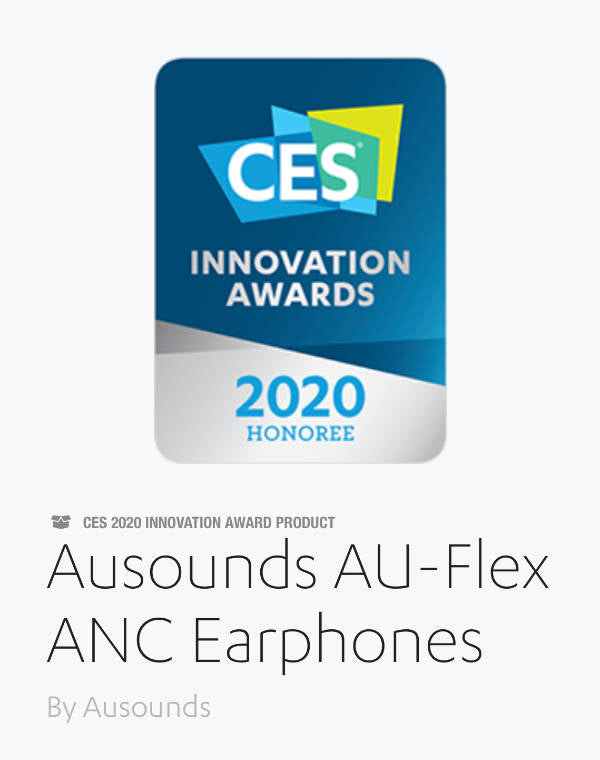 CES Award for Ausounds AU Flex ANC Earphones