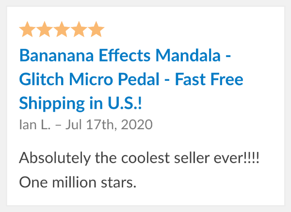 Bananana Mandala Reviews