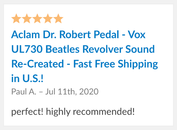 Dr Rober Pedal Review