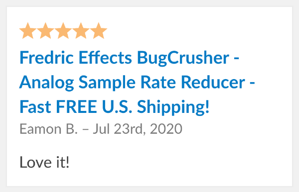 fredric effects bugcrusher review