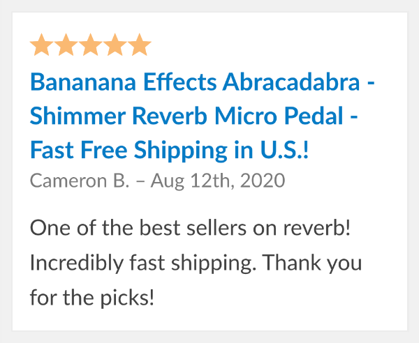 guitar pedal review bananana effects abracadabra