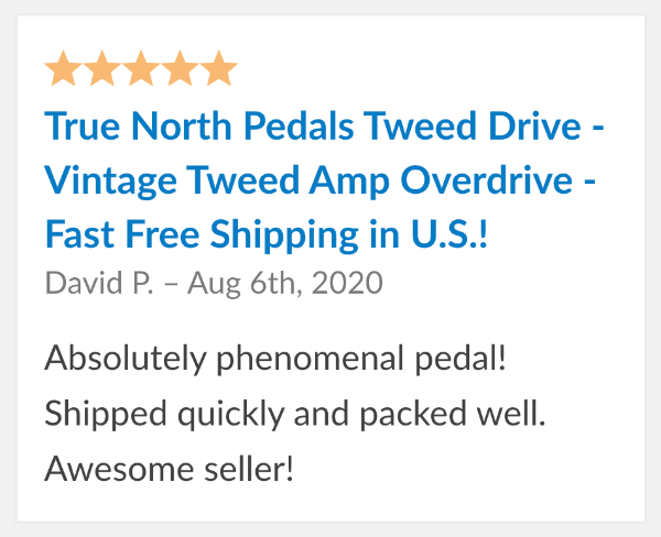 guitar pedal review tweed drive
