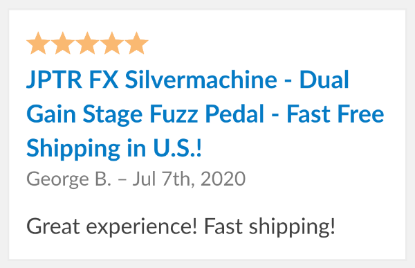 guitar pedal review jptr fx silvermachine