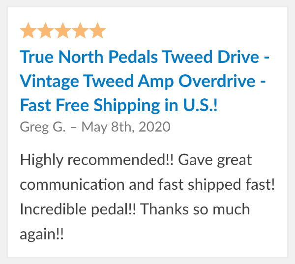 true north tweed drive reviews