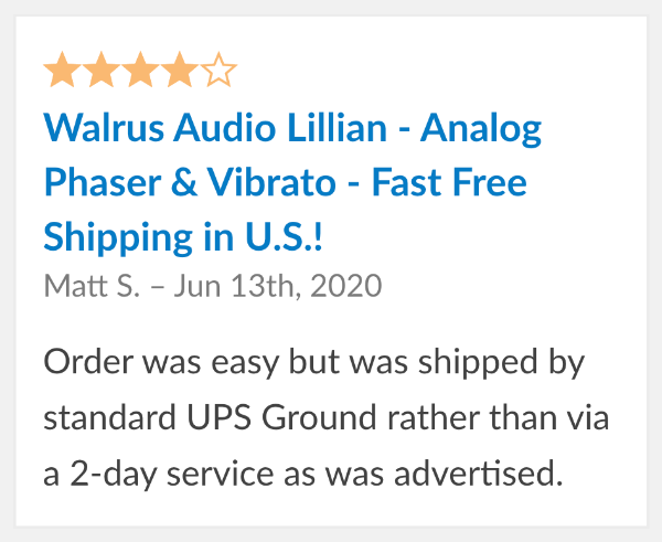 guitar pedal reviews walrus lillian