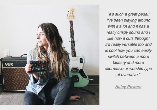 Guitarist Haley Powers on Instagram
