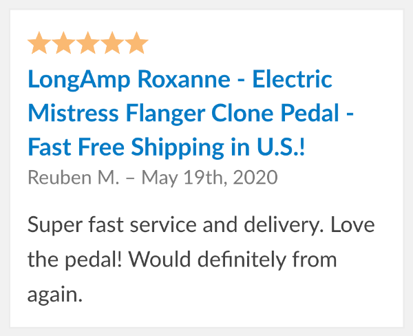 LongAmp Roxanne Pedal Review