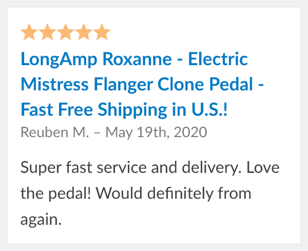 roxanne pedal reviews