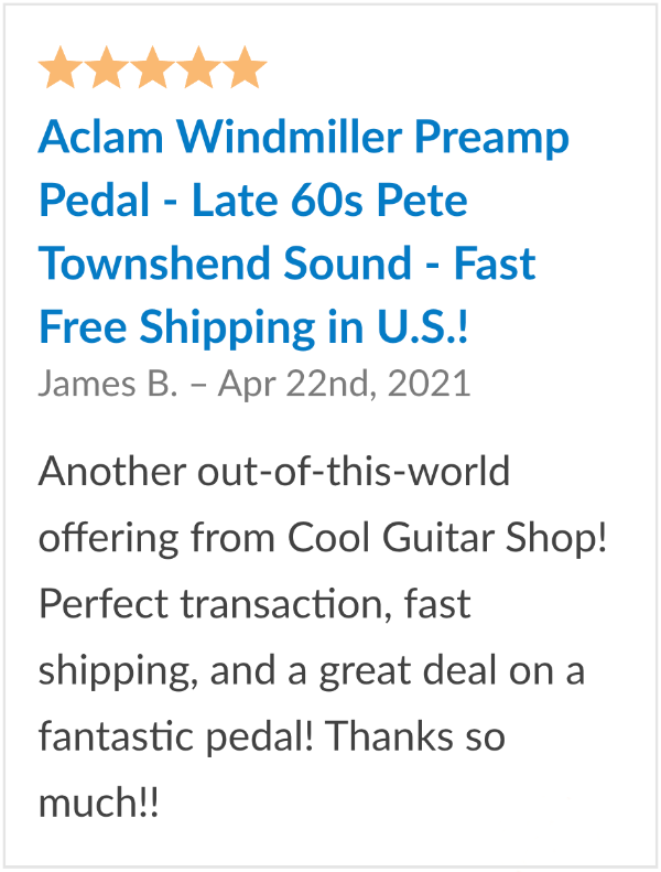 Review Aclam Windmiller Preamp Pedal