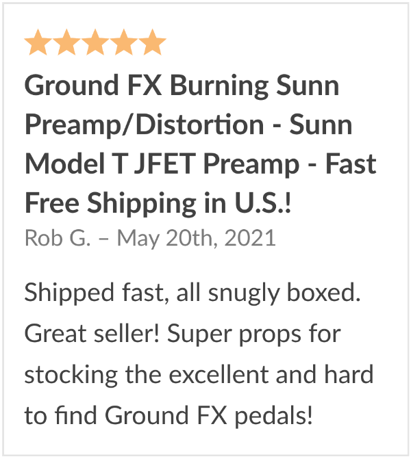 Review Ground FX Burning Sunn Model T Pedal Clone