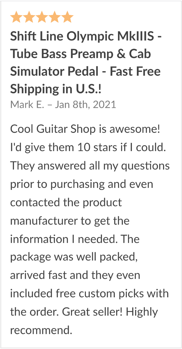 shift line olympic preamp review