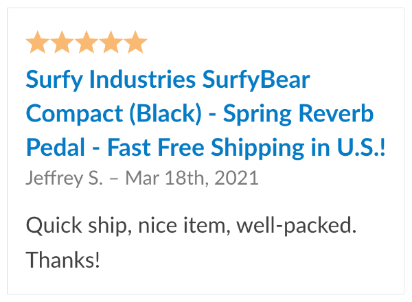 surfybear compact reverb reviews