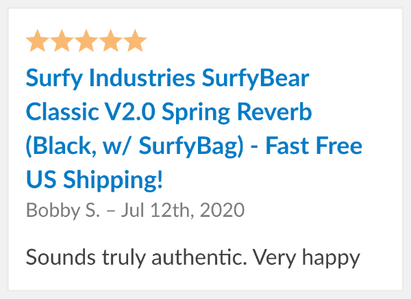 surfybear reverb reviews