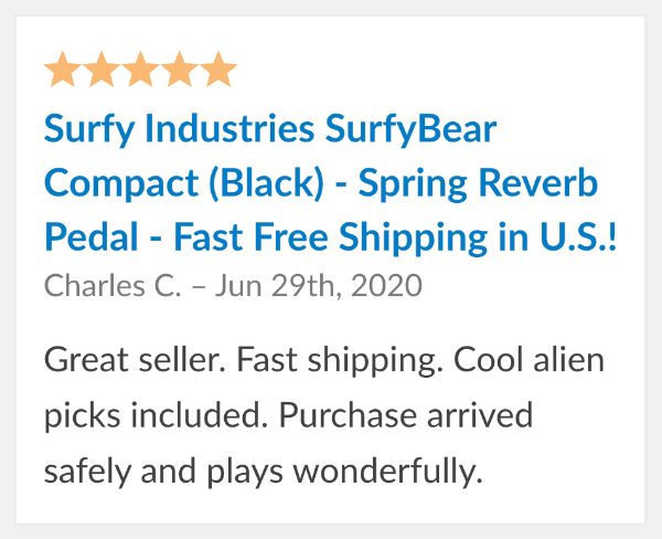 surfybear reverb reviews compact