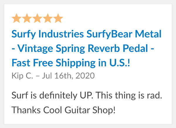 surfybear reverb reviews metal
