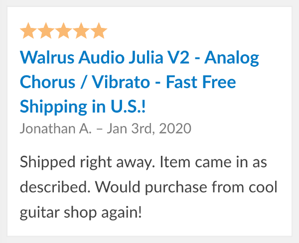 walrus audio julia reviews