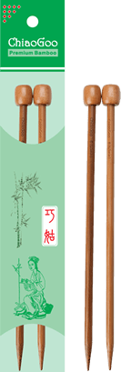 "Dark Bamboo 7"" Single Point Needles - Chiao Goo"