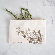 T&H Illustrated Zip Pouch