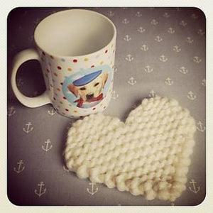 Palentine's Day: Easy Knitted Heart Coaster