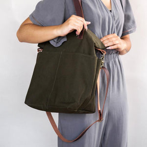 Canvas Crossbody Project Tote