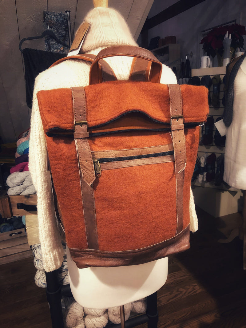 Felt & Natural Leather Backpack