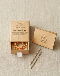 Leather Cord & Needle Stitch Holder Kit