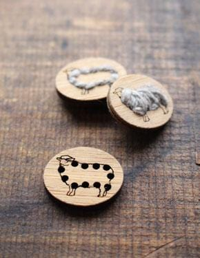Stitchable Sheep Buttons