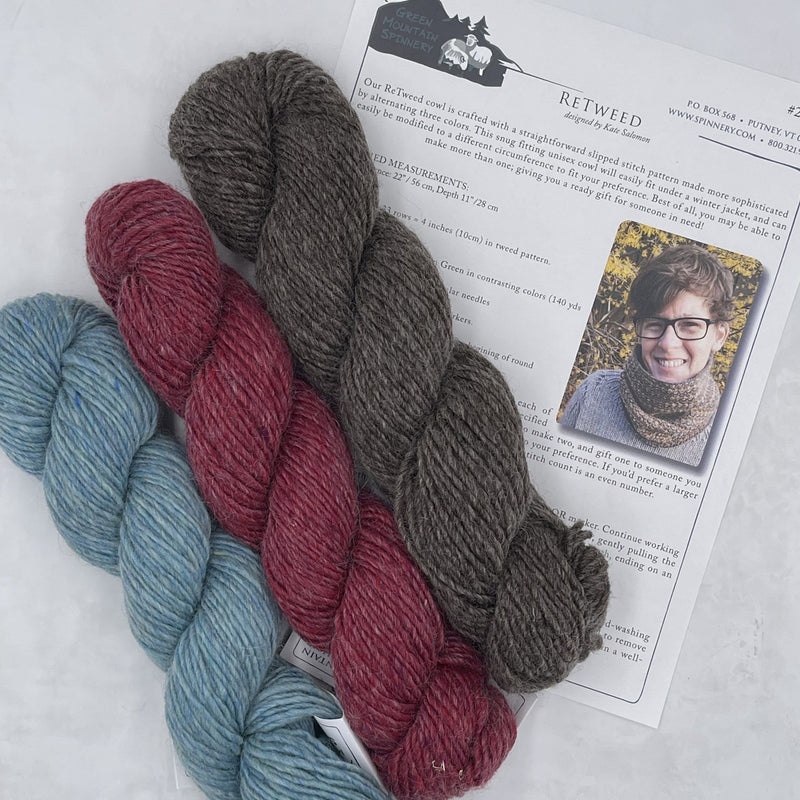 Retweed Cowl Project Kit