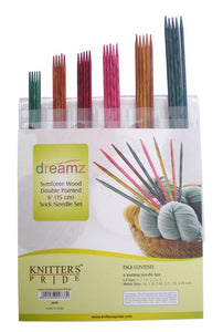 "Symfonie Wood Double Pointed 6"" (15cm) Sock Needle Set - Knitter's Pride"